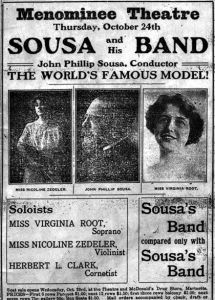 Sousa Band Newspaper Ad